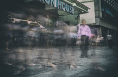 The Stranger (mcartmell) Tags: longexposure people singapore sony crowd singapura a6000 16mm50mm