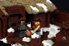Fig Brawl, Round 2 (soccersnyderi) Tags: winter snow castle photography lego scene minifigures brofigbrawl figbrawl
