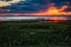 Sunset over Little Bay De Noc (mhoffman1) Tags: aurorahdr deltacounty hdr littlebaydenoc rx100iv up upperpeninsula bay dusk mostlycloudy sunset water rapidriver michigan unitedstates us