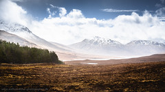 Highland vastness (Steffen Walther) Tags: uk travel trees sky lake mountains nature rain clouds trekking walking landscape scotland highlands forrest outdoor trail vastness munros groban hikinh westernross lochabhraoin achailleach canon702004lis creagrainich canon5dmarkiii steffenwalther