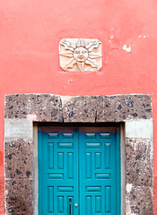 the blue door (http://monicaduranphoto.com) Tags: mexican mexico blue color colorful culture door hotpink pink texture travel turquoise vibrant vivid