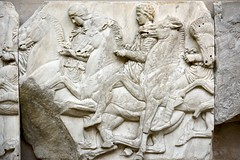 England 2016  British Museum  Riding horses (Michiel2005) Tags: uk greatbritain england horse man london museum greek unitedkingdom britain marbles marble elgin britishmuseum engeland londen paard jongen beeldhouwwerk vk grootbrittanni verenigdkoninkrijk