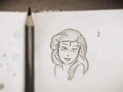 Ariel (A. Elizabeth) Tags: blue ariel little sketchbook disney mermaid bluepencil