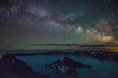 Summer at last! (Tom Fenske Photography) Tags: blue summer nature water night oregon stars outdoors nationalpark astrophotography craterlake wilderness milkyway astrometrydotnet:status=failed astrometrydotnet:id=nova1616464