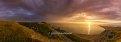 Portland Sunset Pano 2 (1 of 1) (jeremy.cawley) Tags: portland dorset weymouth sunset landscape colours panorama