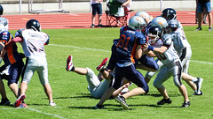 Rostock Griffins Junioren (Zarner01) Tags: sport digital canon football outdoor gameday american l usm 370 touchdown 70200 ef f4 rostock razorbacks mecklenburgvorpommern griffins teamsport erkner ballspiel junioren hansestadtrostock 110616 canoneos750d feldspiel leichtahtletikstadion
