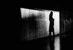 Shadow on the Wall (Dan-Schneider) Tags: street streetphotography schwarzweiss scene schneider silhouette shadow silence blackandwhite bw urban europe human people photography paris olympus omdem10 moment monochrome minimalism mft