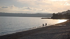 Evening on the beach (Wider World) Tags: wallpaper beach evening sand horizon greece shore kefalonia kephalonia cephalonia 16x9 lourdas