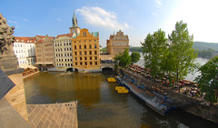 Prague (scuba_dooba) Tags: bridge europe republic angle czech prague edited wide eu charles praha fisheye czechrepublic hemi 105 105mm defish defished