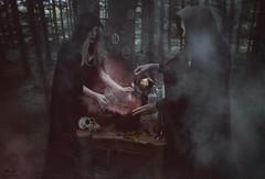Salem. (Megan Glc Photographe) Tags: forest photoshop dark skull fantastic woods photoshoot tales witch smoke magic surreal horror salem witches witchcraft pagan sorcerer blackmagic