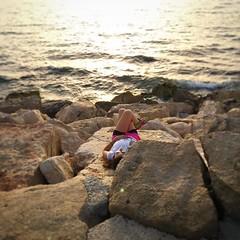 Wish I was here! Sunset on the Mediterranean, just basking in the last few rays... #visitisrael #telaviv (momfluential) Tags: sunset last was telaviv mediterranean here just few rays wish basking i visitisrael