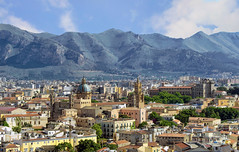 Cityscape of Palermo (Fil.ippo) Tags: palermo cathedral cattedrale palaceofthenormans palazzo normanni above panorama filippo filippobianchi d7000