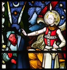 The Fall of Satan (Hardman & Co, 1872) (Simon_K) Tags: cambridge church university churches colleges stmichael cambridgeshire eastanglia cambs michaelhouse churchess