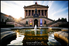 Alte Nationalgalerie (Krueger_Martin) Tags: city blue light sky urban sun berlin water architecture clouds reflections lights licht reflex colorful wasser brunnen himmel wolken sigma wideangle stadt architektur blau sonne spiegelung farbig hdr bunt nationalgalerie weitwinkel photomatix ultraweitwinkel canoneos5dmarkii canoneos5dmark2 sigma1224mmexdghsm