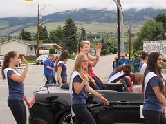 All wave! (jamica1) Tags: girls canada bc okanagan may columbia days parade british kelowna rutland waving