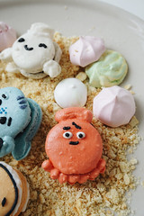 Finding Dory Macarons (Erika Low Yue Huan) Tags: recipe baking dory findingnemo macarons macaron cutefood cutedesserts findingdory sumopocky sumopockymacarons
