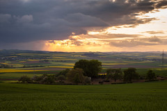 Evening (Guido Bl.) Tags: sun sunlight green nature sunshine rain landscape golden hour lightning