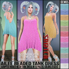 Sn@tch Ailee Beaded Tank Dress Vendor Ad LG (Tess-Ivey Deschanel) Tags: sntch snatch secondlife sl iveydeschanel ivey ihearts clothing clothes clubwear costumes cyberpunk casual capris 4thofjuly mesh model meshclothing meshclothes models bikinis summer punk pants pixels pvc party deschanel designer dresses discount