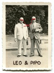 Leo & Pipo, by Tadashi Watanabe (Leo & Pipo) Tags: street old portrait paris france art collage illustration analog vintage paper design mixed artwork media graphic leo handmade cut sewing paste surreal retro dada pipo papier imaginary couture felipe tadashi watanabe leopipo