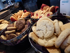 Biscuits galore (seikinsou) Tags: summer food breakfast restaurant hotel cookie midsummer sweden biscuit diningroom meal umea scandic