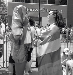 Pride Parade, Toronto 2016 (ocarmona) Tags: toronto tlr rollei candid pride lgbt 100 rodinal yashica dundassquare 1100 mat124g 2016 semistand rpx