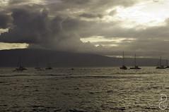 Lanai near Sunset (davegammon) Tags: hawaii2015 maui tbt lanai hawaii boats clouds ocean