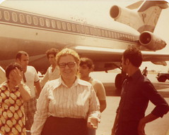 Iran Air , 1970's (reza fakharpour) Tags: old travel family vintage mom freedom iran shiraz iranian 1970s womensrights iranair iranians mytrip homa   iranbeforetherevolution