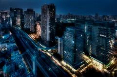 Tokyo at night (Matthias Harbers) Tags: city light sky japan skyline night photoshop tokyo licht nikon nacht worldtradecenter illumination sigma stadt labs dxo turm hdr hochhaus topaz lampen 3xp photomatix grossstadt elumination hochhaeuser fehrsehturm flickraward 816mm d7000