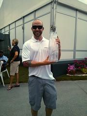 Chris Cardello with the 2013 TPC Trophy (adambenjaminlowe) Tags: tpc 2013 theplayers theplayerschampionship hashrocket hashrocketjacksonville