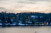 Cold Spring Harbor (mbird7) Tags: winter snow landscape dusk lightroom cshl cshlb