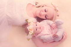 Mother and Child (x Darcy x) Tags: family pink flowers girls baby love floral studio child miltonkeynes photoshoot mother babygirl cuddle cradle platinumheartaward justshootmephotography