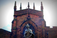 St Peter's Collegiate Church, Wolverhampton - 1 (Tony Worrall Foto) Tags: wild sculpture building bird tower church statue architecture lady fun god spires large spire holy sit perch tall prey iconic pidgeon midlands wolverhampton houseofgod stpeterscollegiatechurch 2013tonyworrall