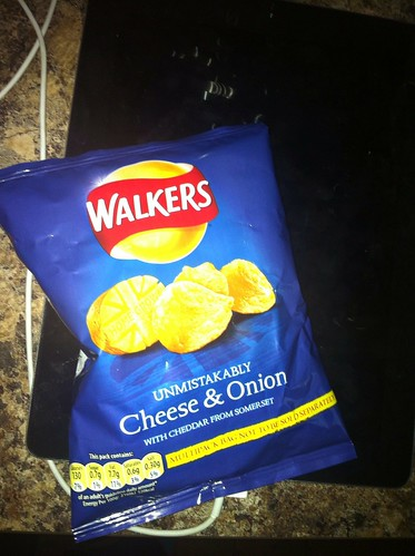 Snack - May 16 - Walkers cheese and onion crisps