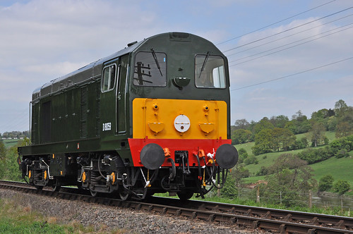 class 20 diesel D8059 light engine heads south towards Arley