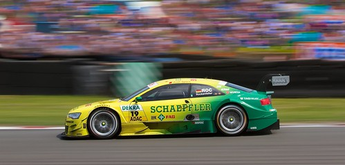 Mike Rockenfeller - Audi RS5  running the yellow side wall option tyres.