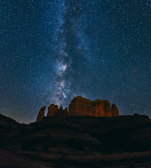 Bubblin Up (CEBImagery.com) Tags: red arizona sky panorama vortex southwest rock night canon stars desert cathedral photographers sedona right astro stuff redrocks really spiritual mesa milkyway photograohy ephemeris arizonapassages 5dmkiii sellarium vscofilm