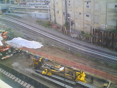 Record by Always E-mail, 2013-06-19 05:59:58 (atlanticyardswebcam) Tags: newyork brooklyn webcam prospectheights atlanticyards vanderbiltrailyard 696716atlanticavenue 718728atlanticavenue block1120