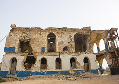 The Old Palace Of Haile Selassie, Massawa, Eritrea (Eric Lafforgue) Tags: africa door sea color colour building history abandoned coral horizontal architecture outdoors photography war day arch outdoor redsea arcade ruin nobody nopeople palace oldhouse civilwar dome damaged bomb decline bullethole bombing bombed oldfashioned massawa eritrea arabesque hornofafrica coastaltown eastafrica haileselassie batsi ottomanempire buildingexterior colorpicture oldruin colourimage italiancolony massaua massaoua ertra builtstructure colourpicture africaorientaleitaliana ottomanturks mitsiwa colonialitalianarchitecture massawaisland italiancolonialempire batseisland eri5404