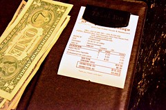 Sixteen American Dollars (Pedestrian Photographer) Tags: house fish green tourism beer june dinner table restaurant bill discount cambodia cambodian khmer you grand curry quay cash thank american foo receipt dollar 16 steamed guest total