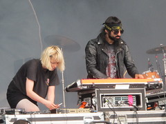 Crystal Castles - Ethan Kath & Alice Glass (Peter Hutchins) Tags: park 2 chicago grant august lollapalooza 2013 crystalcastles aliceglass ethankath