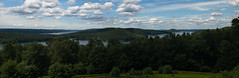 Still Not Big Enough for Quabbin (Northern Wolf Photography) Tags: park blue trees sky panorama lake mountains green water clouds forest landscape woods unitedstates pano massachusetts 28mm panoramic reservoir quabbin ware canonfd em5