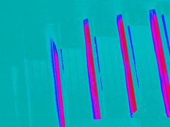 Turquoise Tiger (morganjbryan) Tags: pink abstract teal minimal slashes