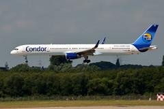 Condor Flugdienst D-ABOB (Howard_Pulling) Tags: plane germany deutschland airport nikon flight august german flughafen dusseldorf flug 2013 d5100
