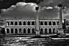 galleria (takis zervoulakos) Tags: old city urban bw italy rome roma film canon vintage dark italia shadows market retro sharp piazza zuiko relics creattività