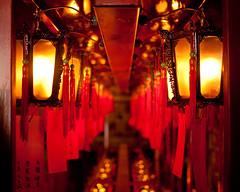 Man Mo Temple (zoonabar) Tags: red temple hongkong candles lamps manmo