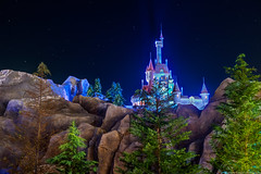 Beast's Castle Shines in the Night (TheTimeTheSpace) Tags: night stars nikon disney disneyworld wdw waltdisneyworld hdr magickingdom beautyandthebeast fantasyland enchantedforest d800 matthewcooper beastcastle