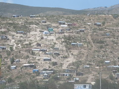 Temporary housing scattered on deforested slopes outside Port-Au-Prince, Haiti