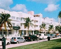 South Beach (Phillip Pessar) Tags: camera film beach analog lomo xpro cross florida miami south 110 slide peacock 200 700 vivitar instamatic sobe c41 procesed