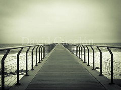 Infinite (David Cucaln) Tags: sea costa beach coast mar peace paz playa olympus perspectiva badalona digitalcameraclub 2013 cucalon pontdelpetroli 1442mm davidcucaln
