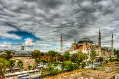 Ayasofya Mosque, Istanbul (Nejdet Duzen) Tags: trip travel cloud history turkey day cloudy trkiye istanbul ottoman hagiasophia sultanahmet bulut ayasofya turkei bizantine seyahat tarih ayasofyacamii ayasofyamosque vision:mountain=062